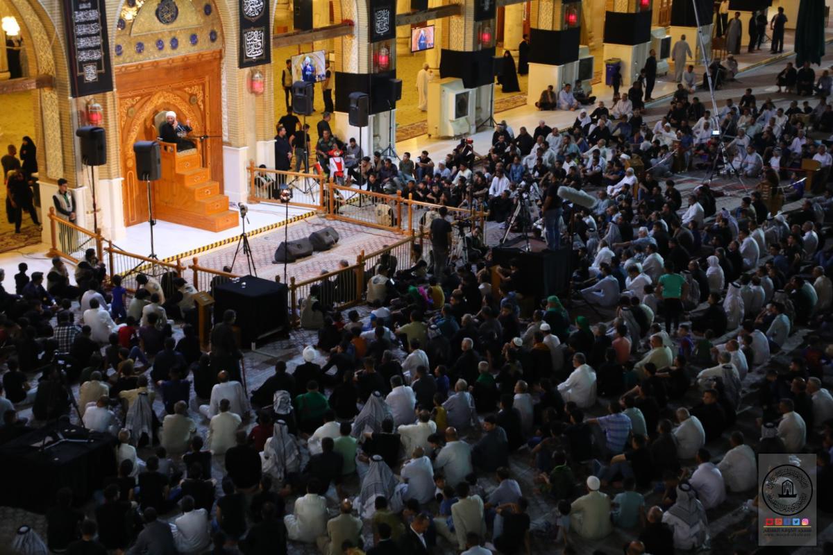 أمانة مسجد الكوفة المعظم تقيم مجلس العزاء السنوي بذكرى شهادة الإمام الباقر (عليه السلام)