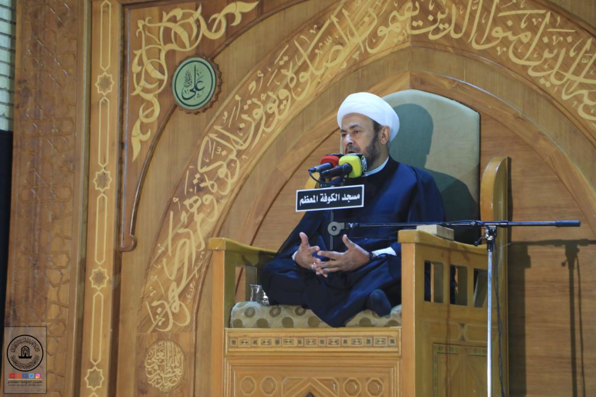امانة مسجد الكوفة تقيم مجلس العزاء بذكرى جرح أمير المؤمنين (عليه السلام)