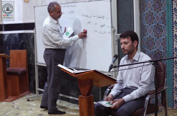 استمرار دورة الإمام الحسن العسكري (عليه السلام) القرآنية في مسجد الحمراء التي تنظمها امانة مسجد الكوفة المعظم