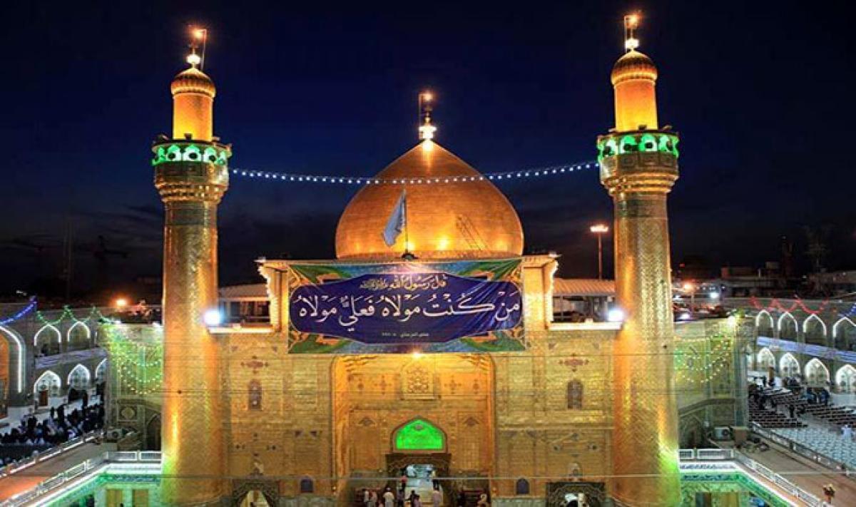 أمير المؤمنين يأمر بالصلاة جامعة ويرد على من احتجوا في مسجد الكوفة