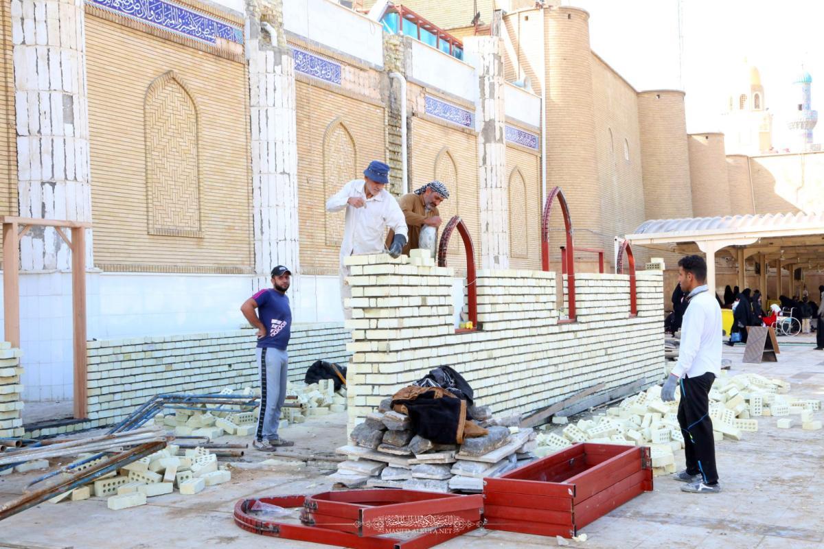 الكوادر الفنية والهندسية تشرع ببناء قاطع تفتيش في باب المراد