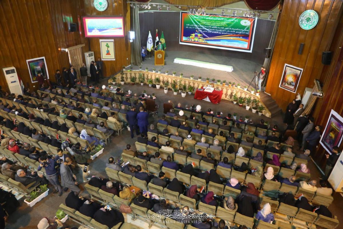 وفد أمانة مسجد الكوفة يحضر احتفالية جامعة الكوفة بذكرى تأسيسها