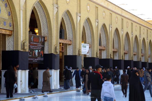 حزناً على الزهراء (عليها السلام) مسجد الكوفة المعظم يتَّشح بالسواد بذكرى شهادتها