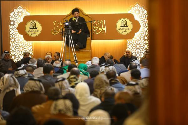 امانة مسجد الكوفة تواصل إقامة مجلس العزاء الأسبوعي في محراب امير المؤمنين (عليه السلام)