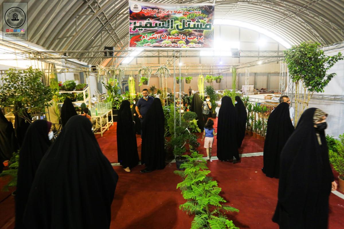 أمانة مسجد الكوفة تشارك في مهرجان التسوق العراقي الإيراني في النجف الأشرف