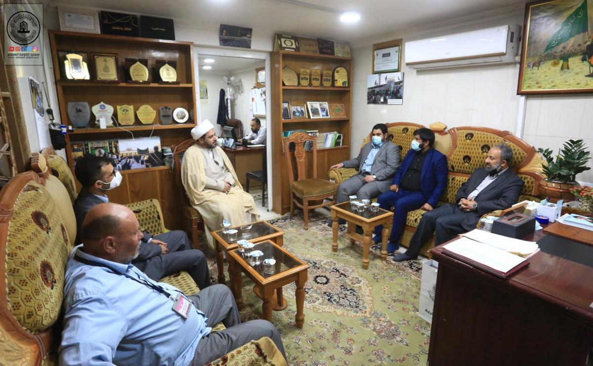 قسم الشؤون الدينية يستقبل الوفد القرآني للعتبة العلوية المقدسة ويناقش آليات التعاون