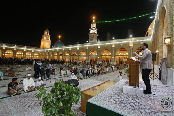 المؤمنون يحيون ذكرى ولادة الإمام الحسن المجتبى (ع) في مسجد الكوفة المعظم