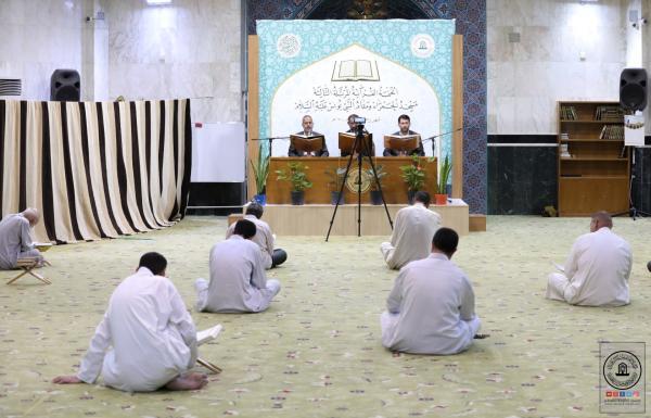 استمرار الختمة القرآنية الرمضانية في مسجد الحمراء مقام النبي يونس (عليه السلام)