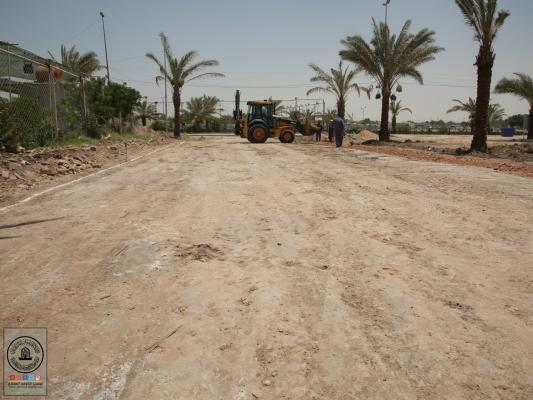 المباشرة بتأهيل شارع بوابة الإمام علي (ع) الجديدة خدمة للزائرين الكرام