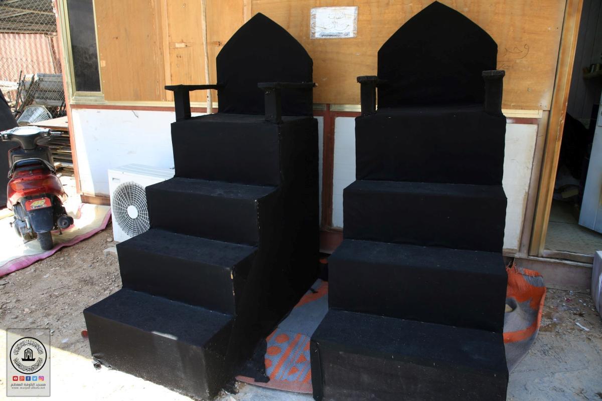 وحدة الخياطة في أمانة مسجد الكوفة المعظم عمل مستمر للخدمة سفير الحسين (عليهما السلام)
