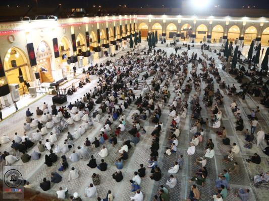 مجلس العزاء السنوي بذكرى شهادة الصحابي هانئ بن عروة (رض) في مسجد الكوفة المعظم