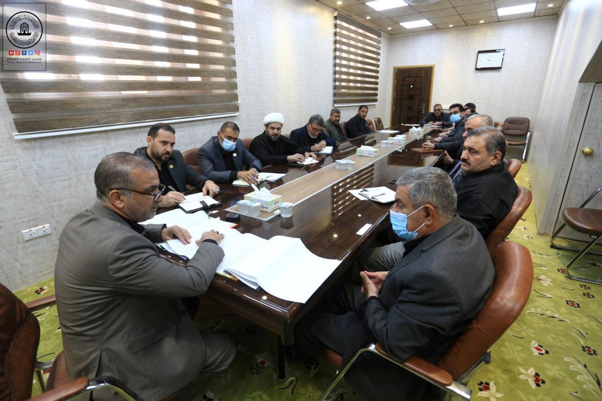 امين مسجد الكوفة يناقش الاستعدادت لاستقبال زوار الأربعين