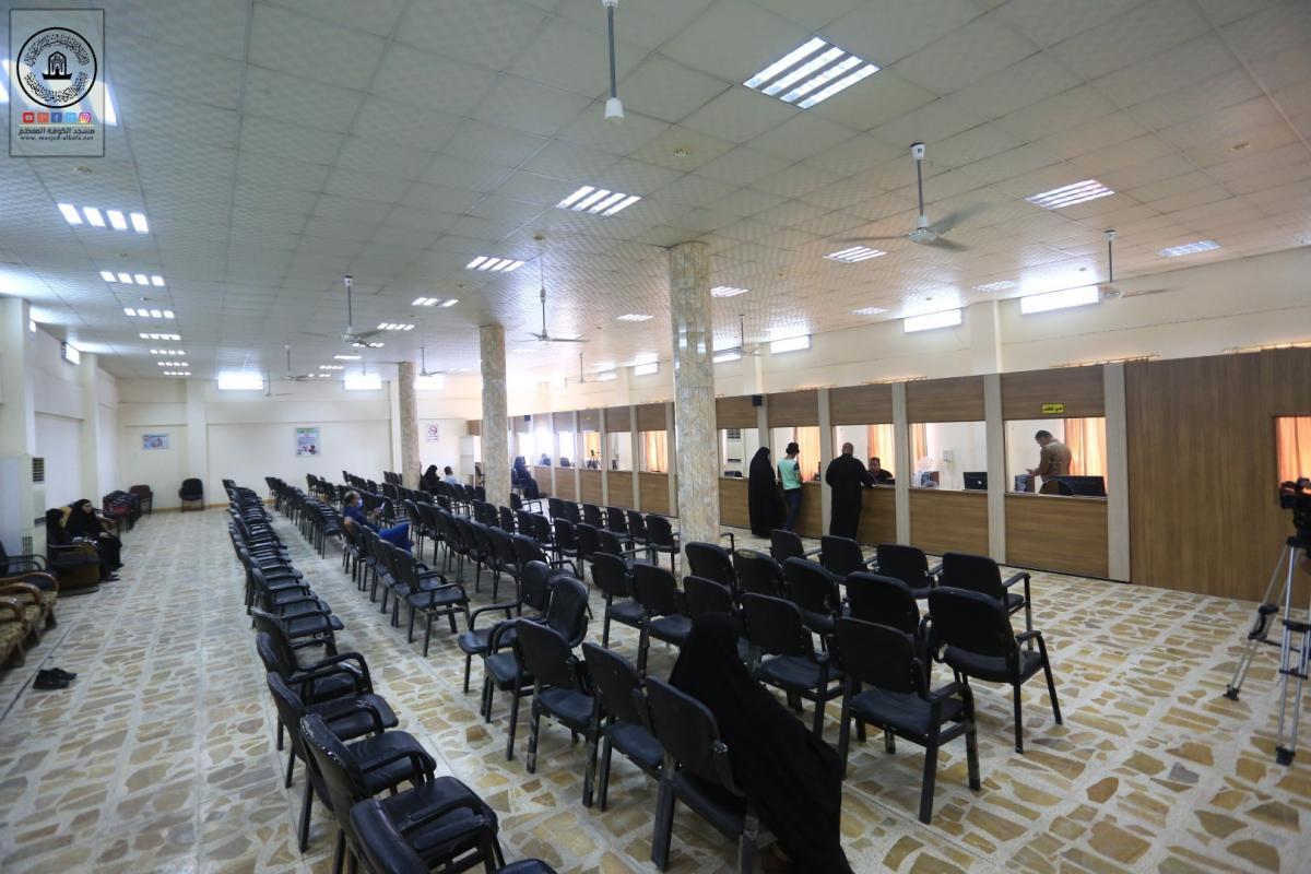من اجل تقديم الخدمات للمواطنين افتتاح مكتب جوازات الكوفة بالتعاون مع امانة مسجد الكوفة المعظم