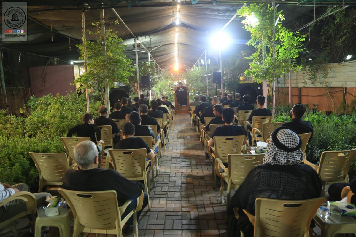 مشتل السفير يقيم مجلس العزاء السنوي بذكرى شهادة الإمام الحسين (عليه السلام) واصحابه المنتجبين