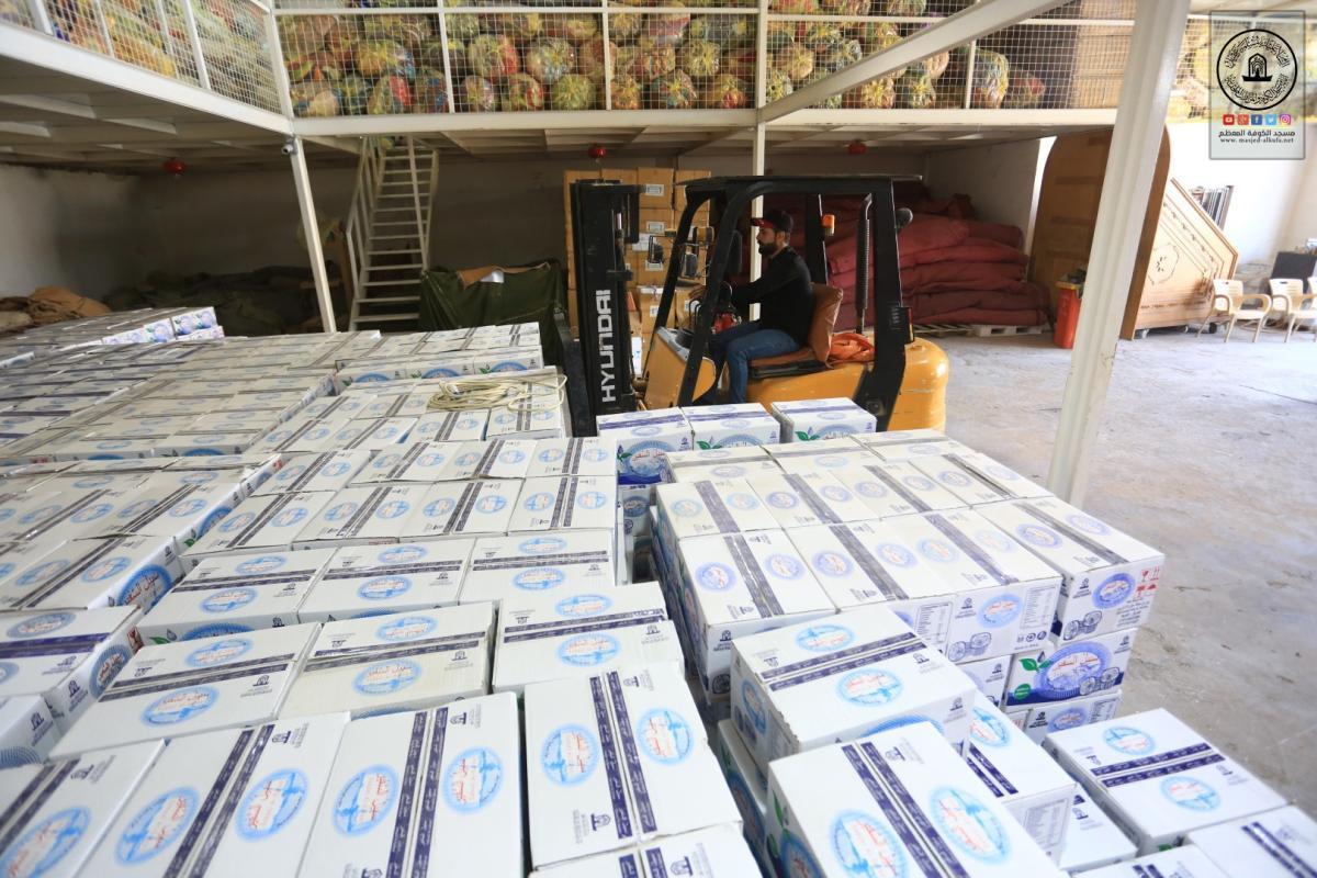 استعداداً لزيارة الأربعين شعبة إحياء الشعائر الحسينية توزع صناديق ماء السفير على المواكب الخدمية المسجلة