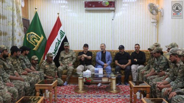 امين مسجد الكوفة يشكر منتسبو فرقة الامام علي (ع) القتالية لجهودهم في تفويج زوار الاربعين