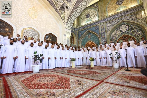 بذكرى ولادة الرسول الأعظم (صلى الله عليه وآله وسلم) وفد امانة مسجد الكوفة يحضر مهرجان ربيع الولادة في العتبة الكاظمية المقدسة