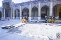 المباشرة بصيانة أرضية صحن مسلم بن عقيل (عليه السلام) وباب المراد