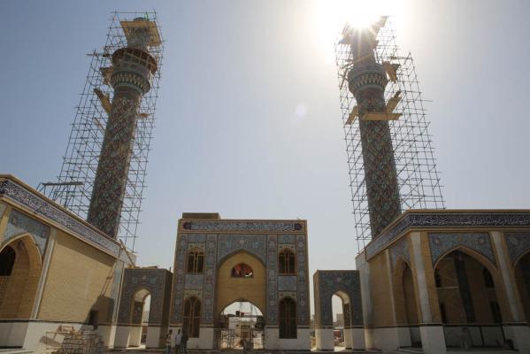 أمانة مسجد الكوفة المعظم تعلن وصول نسبة انجاز التوسعة في صحن مسلم بن عقيل إلى 96%