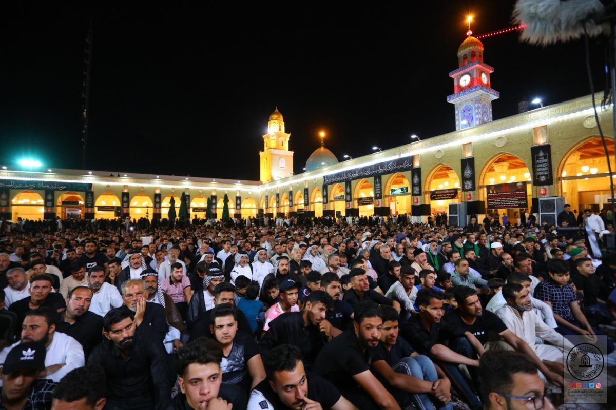 أمانة مسجد الكوفة تختتم مجلس العزاء السنوي بذكرى شهادة مسلم بن عقيل (عليه السلام).