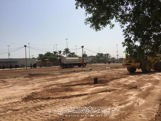 تأهيل المنطقة المحيطة بمسجد الكوفة لاستراحة زوار ذكرى أربعينية الإمام الحسين (عليه السلام)