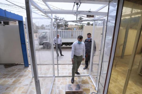 امانة مسجد الكوفة تصنِّع منظومة للتعقيم ضد الفايروسات لمشافي المحافظة