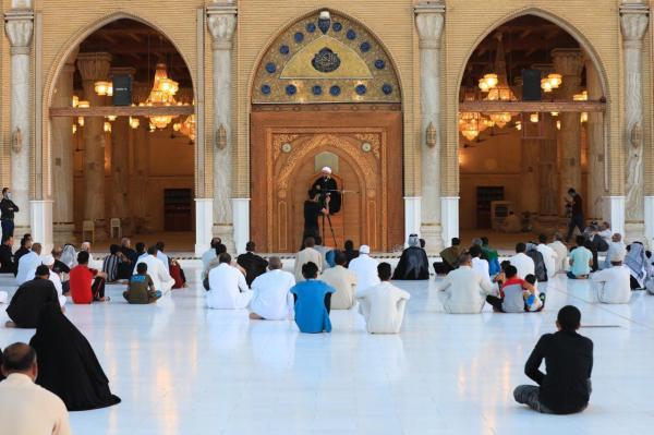 أمانة مسجد الكوفة المعظم تقيم مجلس العزاء بذكرى شهادة الإمام الصادق (ع)