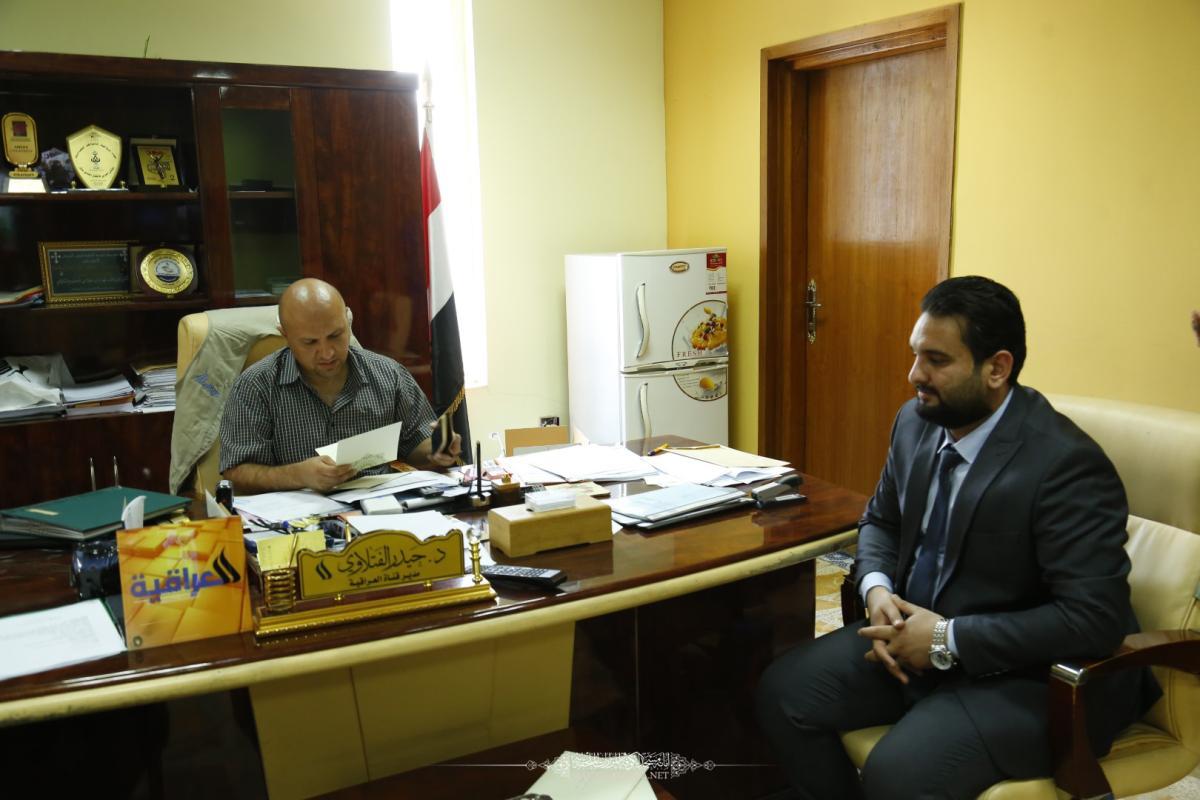 الحيدري يدعو الفضائيات والإذاعات لتغطية فعاليات مهرجان السفير الثقافي التاسع في مسجد الكوفة