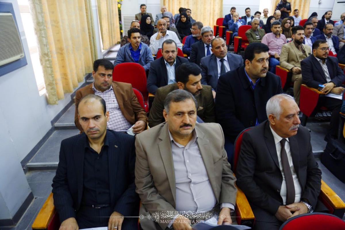 بحضور وفد أمانة مسجد الكوفة .. انطلاق فعالية يوم التصميم في كلية الهندسة