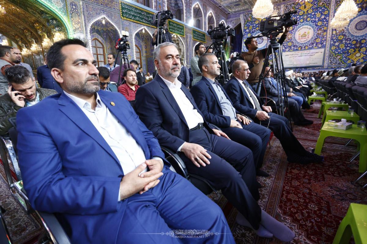 أمين مسجد الكوفة يحضر انطلاق فعاليات مهرجان ربيع الشهادة الخامس عشر