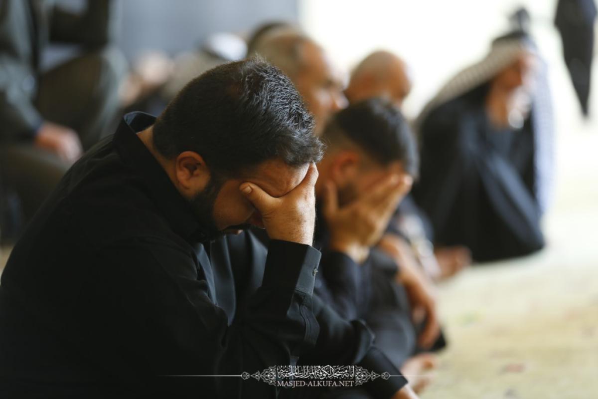 يومُ رابع من محرم تقيم فيه أمانة مسجد الكوفة مجلس العزاء استذكاراً لشهداء كربلاء