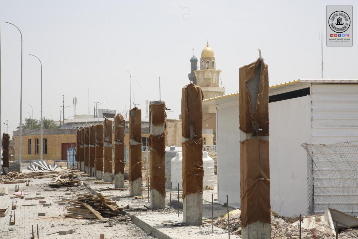 المباشرة بنصب سياج حديث فوق نفق مسلم بن عقيل (عليه السلام)