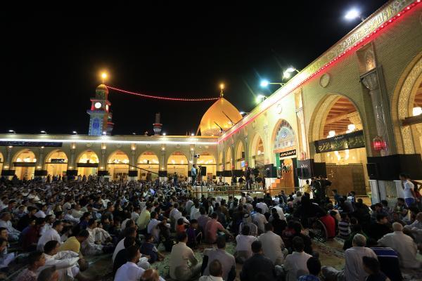 أمانة مسجد الكوفة تحيي ذكرى شهادة السفير مسلم بن عقيل (عليه السلام) بمجلس عزاء كبير