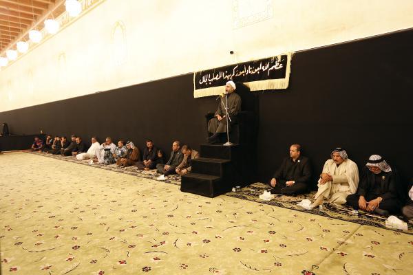 مجلس عزاء بذكرى شهادة الإمام السجاد (عليه السلام) في مسجد الكوفة المعظم