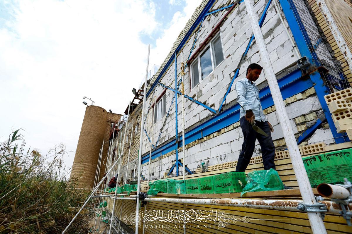 مشروع توسعة دار الضيافة في مسجد الكوفة يصل مراحله الأخيرة