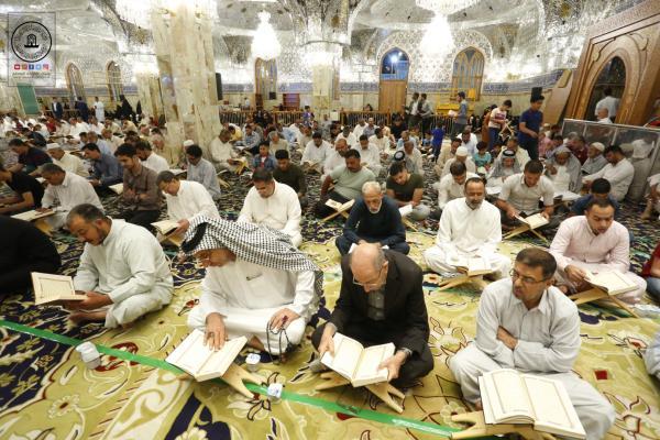 اليوم الثاني للختمة القرآنية المرتلة في مسجد الكوفة المعظم