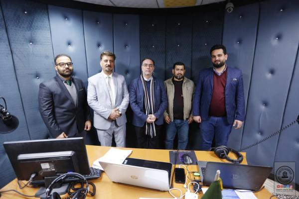 هيئة اتصالات النجف الأشرف تشيد بإذاعة سفير الحسين (ع) ودورها في الاعلام المسموع