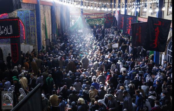 صوتيات أمانة مسجد الكوفة تشارك في إحياء ذكرى شهادة القاسم (ع) في مزاره الشريف