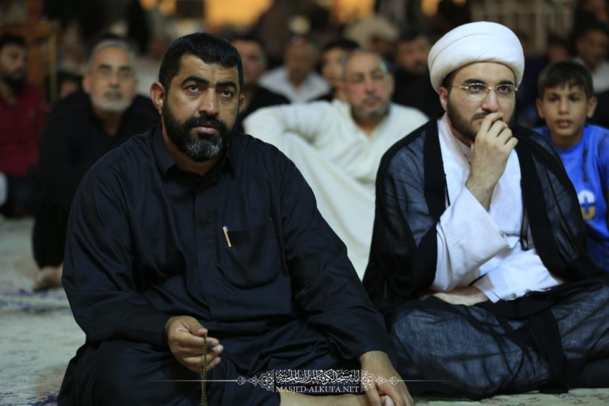 مسجد الكوفة المعظم يشهد محاضرة إرشادية عن شهر رمضان المبارك ومجلس عزاء بذكرى شهادة أمير المؤمنين (عليه السلام)