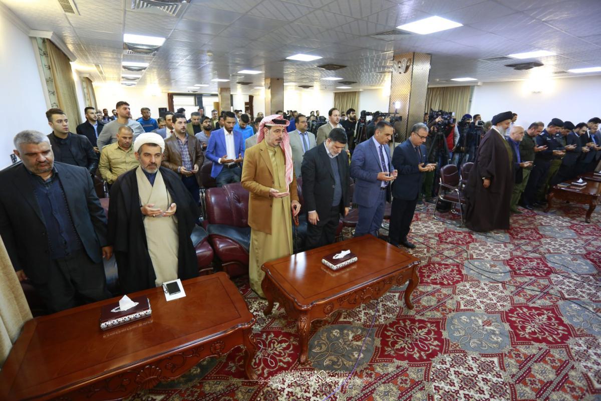 امانة مسجد الكوفة المعظم تشارك في فعاليات المؤتمر التكريمي الاول لتغطية زيارة الاربعين.