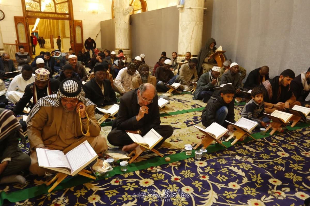 شاهد .. الجلسة القرآنية في مسجد الكوفة المعظم ضمن فعاليات الموسم الثقافي الثامن