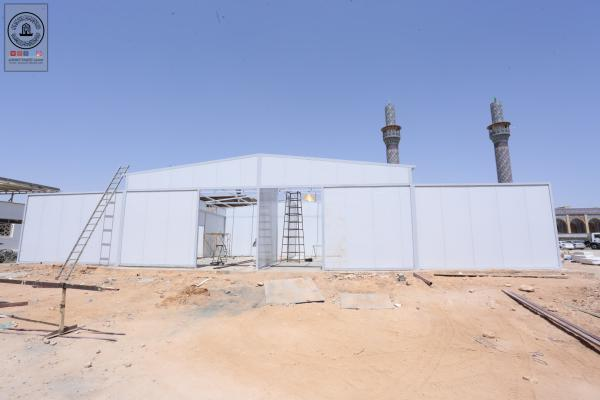 القسم الهندسي في أمانة مسجد الكوفة المعظم يواصل العمل بمشروع مجمع الورش الرئيسية