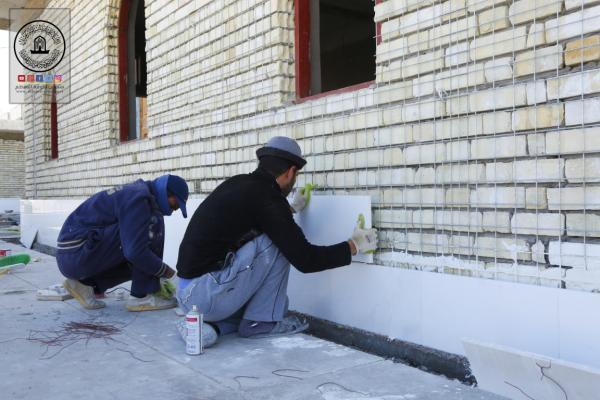 استمرار العمل في مشروع انشاء نقاط التفتيش في باب المراد لصحن مسلم بن عقيل (عليه السلام)