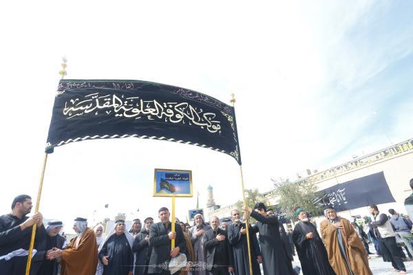 موكب الكوفة العلوية الموحد يحيي ذكرى شهادة الإمام الهادي (عليه السلام) في سامراء