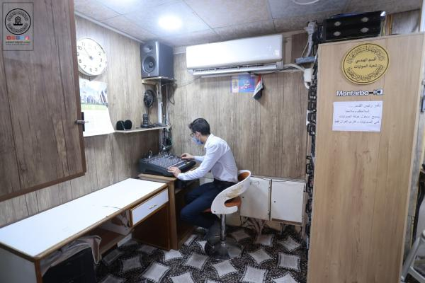 التقنية الحديثة والصيانة الدورية .. اساس عمل شعبة الاتصالات والصوتيات في مسجد الكوفة المعظم