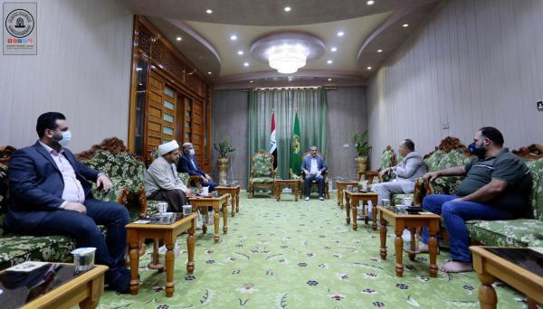 أمانة مسجد الكوفة تناقش وفد كربلاء الفضائية فتح آفاق التعاون وانتاج برامج جديدة