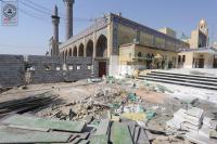 المراحل الاخيرة في مشروع كيشوانيات باب المراد لصحن مسلم بن عقيل (ع)