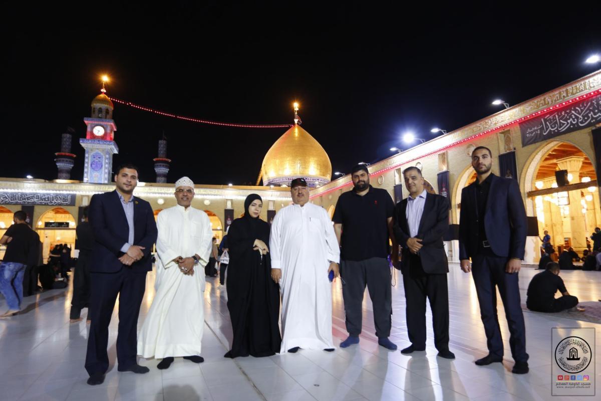 وفد نيابي كويتي يتشرَّف بزيارة مسجد الكوفة المعظم والمراقد الطاهرة جواره ويطلع على معالمها التراثية