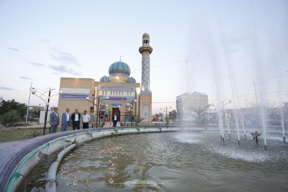 أمين مسجد الكوفة يتفقَّد ميدانياً مسجد صعصعة بن صوحان (رضوان الله عليه) ويؤكد على توفير افضل الخدمات للزائرين