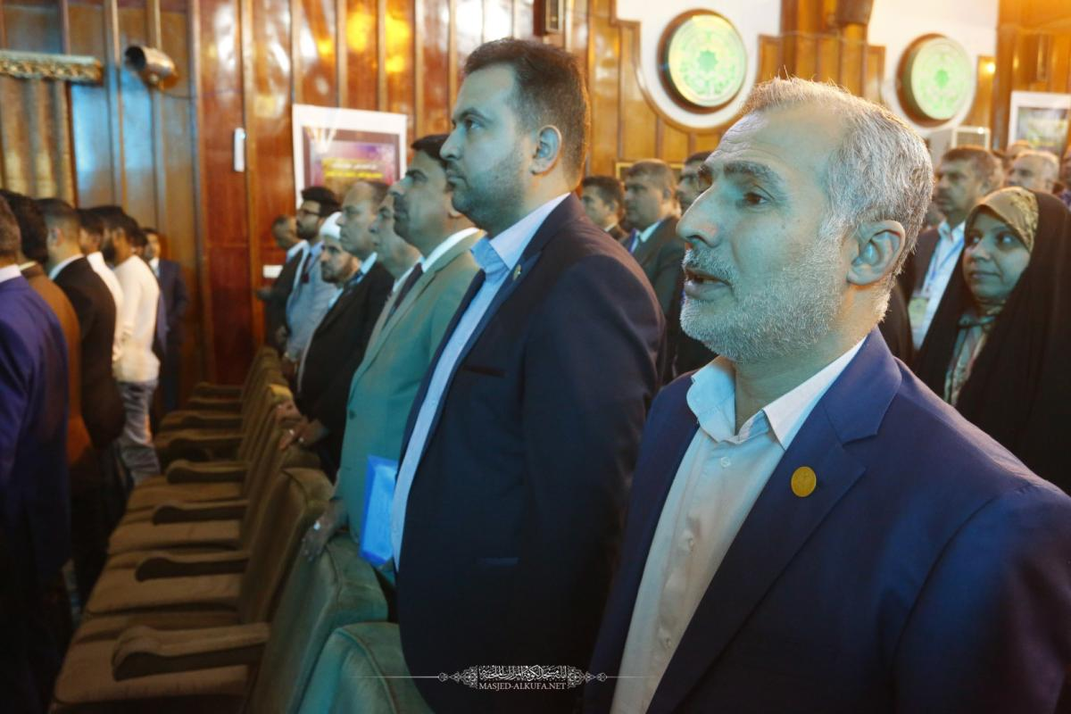 مؤتمر جودة التعليم في جامعة الكوفة يبدأ أعماله بحضور وفد أمانة مسجد الكوفة المعظم